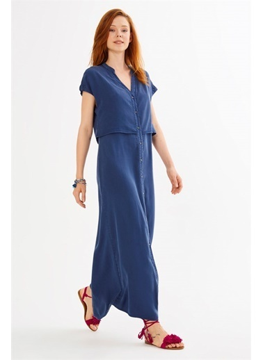 V Yaka Kolsuz Uzun Elbise-Just like you